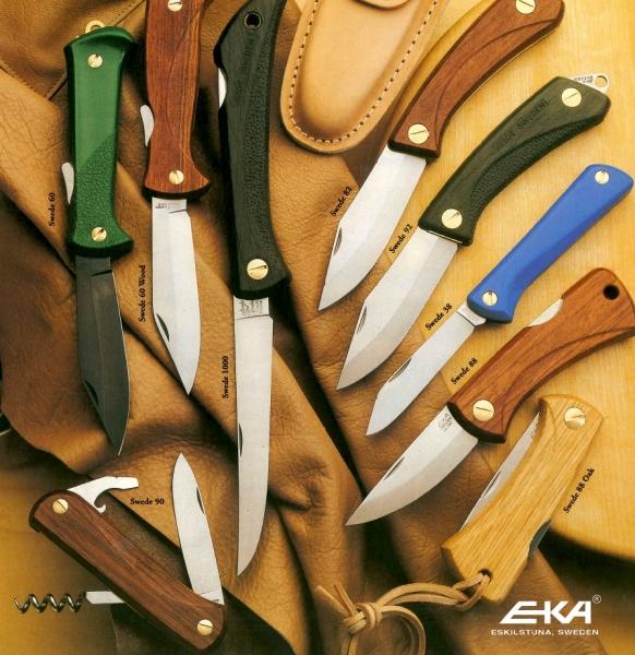Pierwsza seria noży zkrólewskiej linii Swede - 1970 rok. Źródło: http://www.eka-knivar.se/